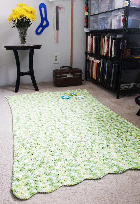 Spring Meadow Rug Crochet Pattern Squirrel Picnic