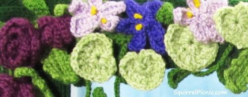 Roses Violets Lily Leaf