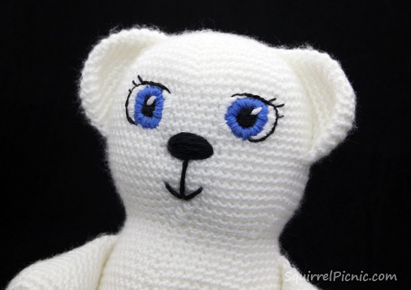Satin Stitch Amigurumi Face Tutorial by Squirrel Picnic 2