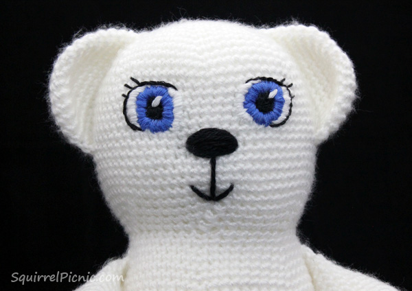 Satin Stitch Amigurumi Face Tutorial by Squirrel Picnic
