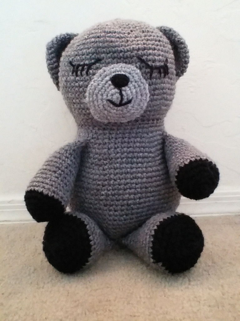 sleepy bear crochet pattern