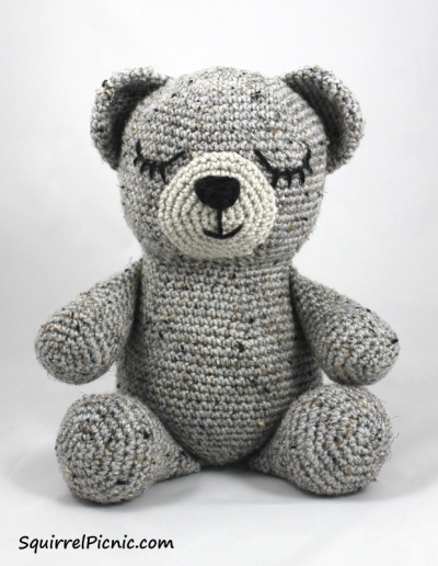 Sleepy Bear Crochet Pattern by Squirrel Picnic