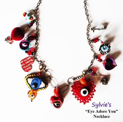 Sylvie's Eye Adore You Necklace Completed