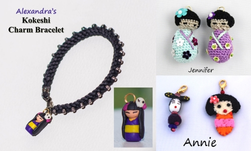 Alexandra's Kokeshi Doll Bracelet January