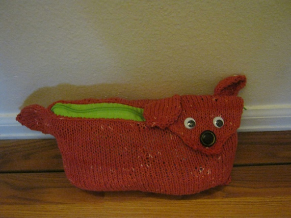 Jack Russell Clutch/Dog Poo Bag Holder by curlyfro