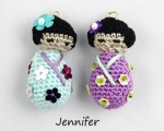 Jennifer's Kokeshi Doll Charms