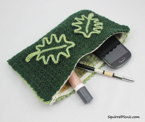 Oak Leaf Clutch by Squirrel Picnic with logo