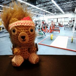 Day 21 ★ I made Podge a barbell so we could lift weights together today.