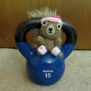 Day 8 ★ Podge and I decided to step outside our comfort zones today and try something new. Kettlebells! I picked up a beginner's video to guide us, but it didn't warn us about how sore our legs would be. Tomorrow might need to be a light day.