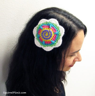 Tall n Fast Flower Barrette from The Big Acorn Race by Jennifer Olivarez