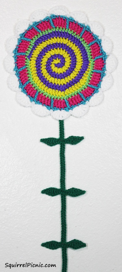 Tall n Fast Flower Wall Hanging from The Big Acorn Race by Jennifer Olivarez