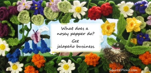 What does a nosey pepper do