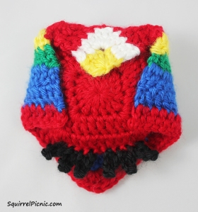 Crochet Unlikely Friend Bird by Squirrel Picnic 10