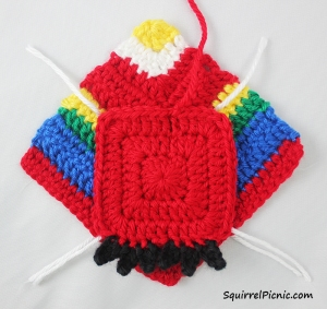 Crochet Unlikely Friend Bird by Squirrel Picnic 5