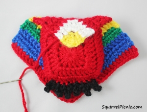 Crochet Unlikely Friend Bird by Squirrel Picnic 9