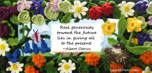 Real generosity toward the future