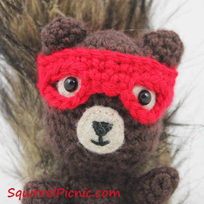 Superhero Mask for Your Squirrel Friend Pattern by Squirrel Picnic