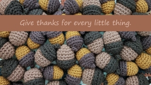 Thanksgiving Wallpaper with Sentiment from Squirrel Picnic Desktop 1366 x 768