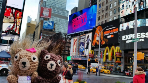 Hodge and Podge in Times Square