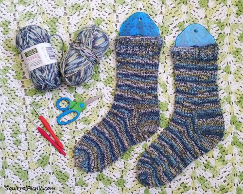 January 2016 Crochet Socks_Simple Simon