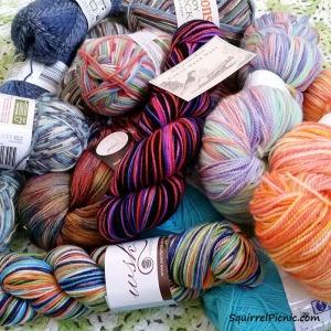 My Sock Yarn Stash 2016