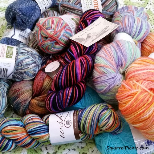 My Sock Yarn Stash 2016