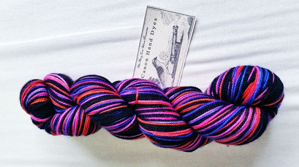 Squirrel Picnic'c Year of the Sock February Yarn Canon Hand Dyes