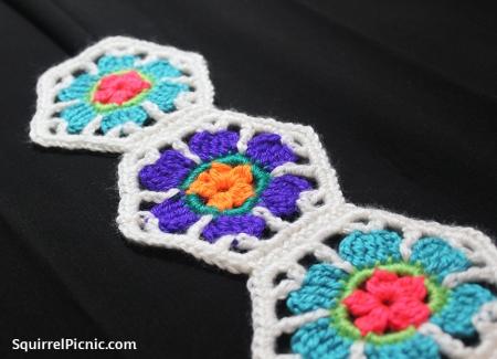 Calavera Flower Crochet Motif