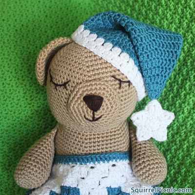 Sleepy Bear's Night Cap Crochet Pattern