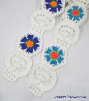 White Skull Scarves